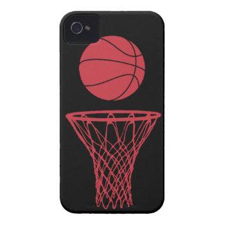negro de los toros de la silueta del baloncesto de iPhone 4 Case-Mate protector
