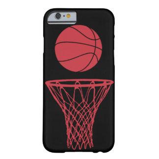 negro de los toros de la silueta del baloncesto funda de iPhone 6 slim