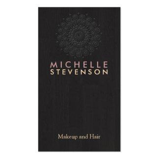 Negro de madera de la mirada del grano del adorno tarjeta personal