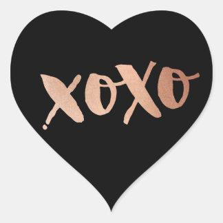 Negro de moda del AMOR XOXO del oro color de rosa Pegatina En Forma De Corazón