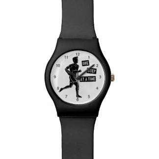 Negro de motivación de la cita del funcionamiento reloj