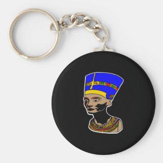 Negro de Nefertiti Llaveros Personalizados