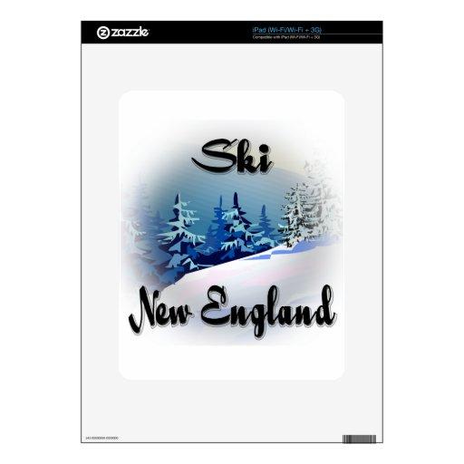 Negro de Nueva Inglaterra del esquí Skin Para El iPad