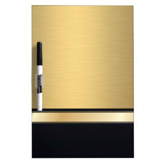 Negro de oro con clase de lujo personalizado tablero blanco