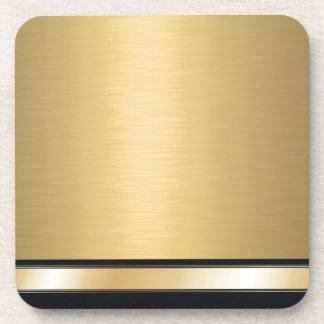 Negro de oro con clase de lujo personalizado posavasos