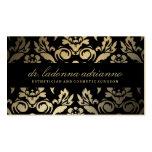 Negro de oro del damasco de 311 Ladonna Tarjetas De Visita
