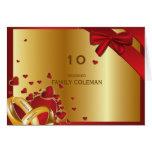 Negro de oro moderno de lujo de los corazones de tarjeta pequeña