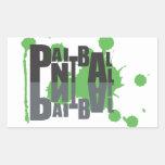 Negro de Paintball en el pegatina verde del