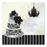 Negro de PixDezines+Ducha nupcial del pastel de Comunicado Personal