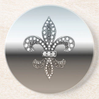 Negro de plata de Flor New Orleans de la flor de l Posavasos Cerveza