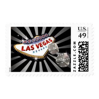 Negro de plata de Las Vegas Starburst Sellos