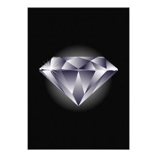 negro de plata del diamante 1307552490_Vector_Clip Invitación