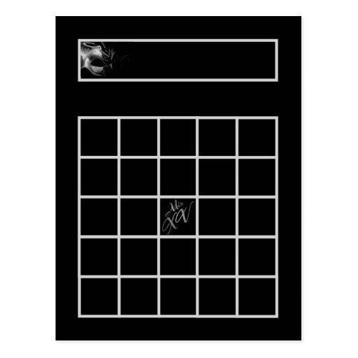 Negro de plata del Mis XV programable de la tarjet Tarjeta Postal