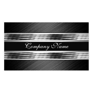 Negro de plata elegante 2 del metal del cromo tarjeta de negocio