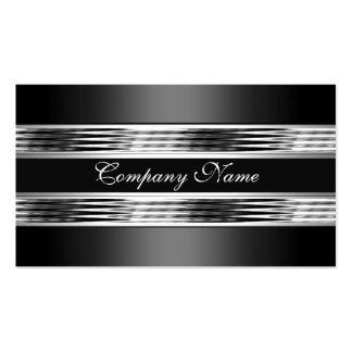 Negro de plata elegante 3 del metal del cromo tarjetas de visita