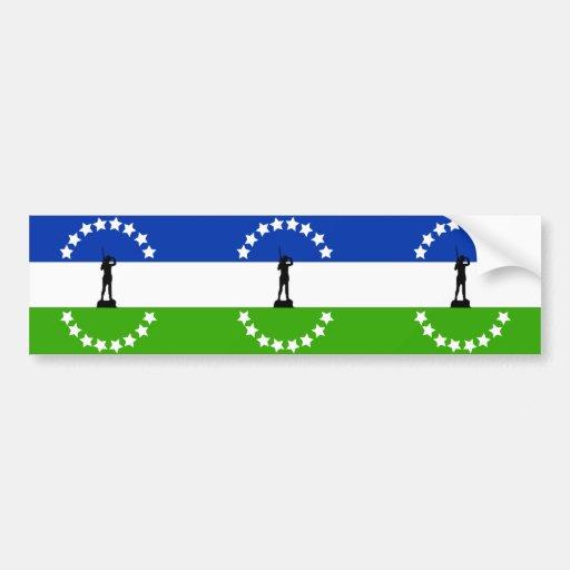 Negro de Río ningún Oficial, bandera de la Argenti Pegatina De Parachoque