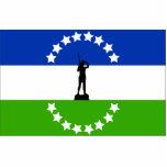 Negro de Río ningún Oficial, bandera de la Argenti Escultura Fotografica