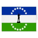 Negro de Río ningún Oficial, bandera de la Argenti Tarjetas