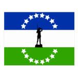 Negro de Río ningún Oficial, bandera de la Argenti Postal