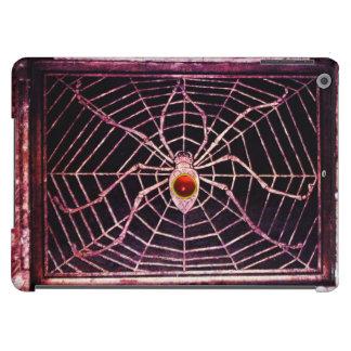 Negro de rubíes rojo de la ARAÑA Y del WEB