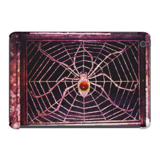 Negro de rubíes rojo de la ARAÑA Y del WEB Fundas De iPad Mini
