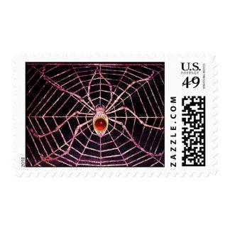 Negro de rubíes rojo de la ARAÑA Y del WEB Sellos Postales