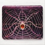 Negro de rubíes rojo de la ARAÑA Y del WEB Alfombrilla De Raton