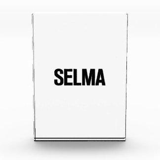 Negro de Selma del día de MLK en blanco