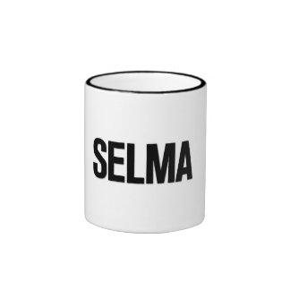 Negro de Selma del día de MLK en blanco Taza A Dos Colores