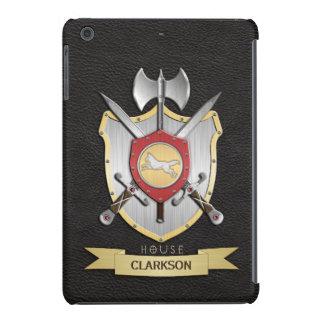 Negro de Sigil del escudo de la batalla del lobo Fundas De iPad Mini Retina
