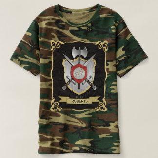 Negro de Sigil del escudo de la batalla del lobo Polera