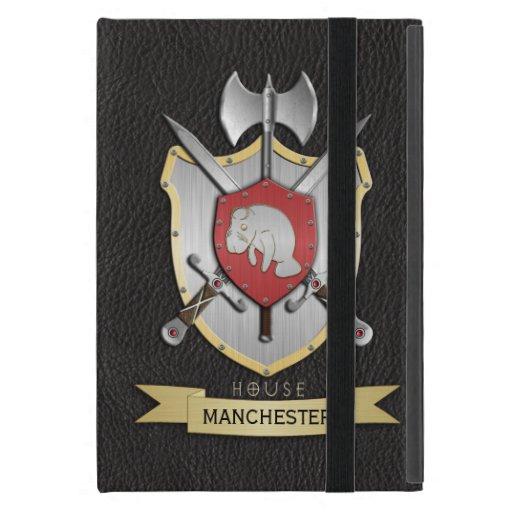 Negro de Sigil del escudo de la batalla del Manate iPad Mini Fundas