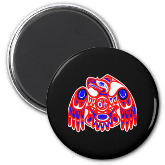 Negro de Thunderbird del Haida Imán Redondo 5 Cm