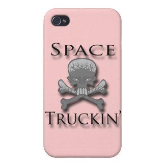 Negro de Truckin del espacio iPhone 4 Cobertura