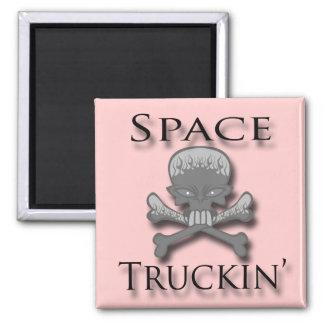 Negro de Truckin del espacio Imán De Frigorifico
