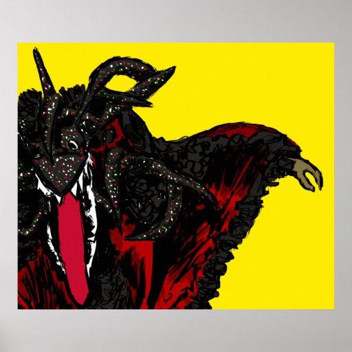 Negro de Vejigante Rojo y Posters