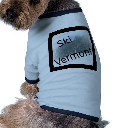Negro de Vermont del esquí Ropa De Perros