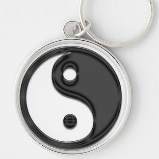 negro de yang del yin llaveros personalizados