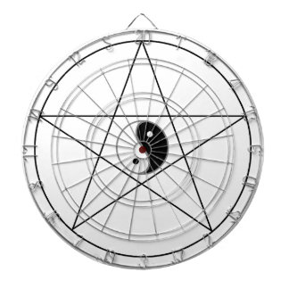 Negro de Yin Yang del Pentagram