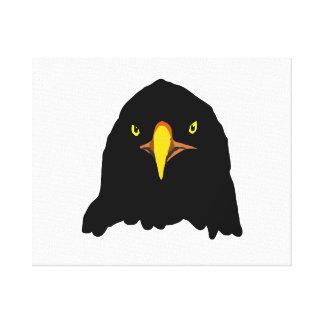 negro del águila impresión en lienzo estirada