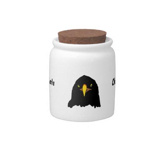 negro del águila jarras para caramelos