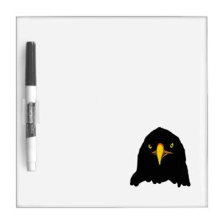 negro del águila tablero blanco