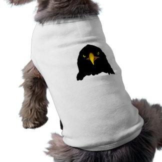 negro del águila playera sin mangas para perro