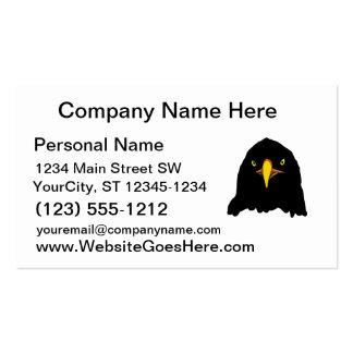 negro del águila tarjetas de visita