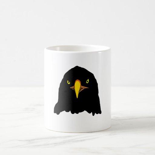 negro del águila taza básica blanca