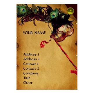 Negro del amarillo del rosa del oro del pergamino tarjetas de visita grandes