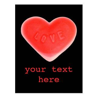 "Negro del amor postal de ""su texto"""
