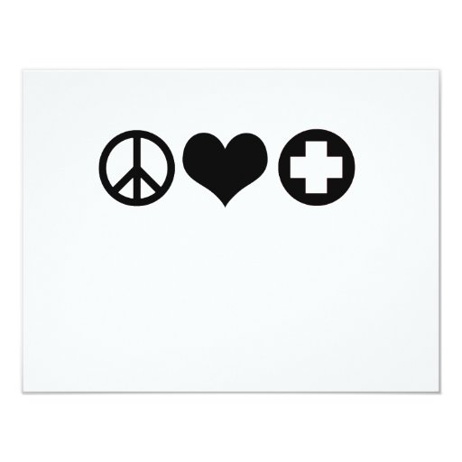Negro del amor y de la atención sanitaria de la invitaciones personalizada