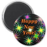 Negro del Año Nuevo de Starblast Imán Para Frigorífico