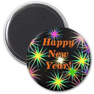 Negro del Año Nuevo de Starblast Imán Redondo 5 Cm